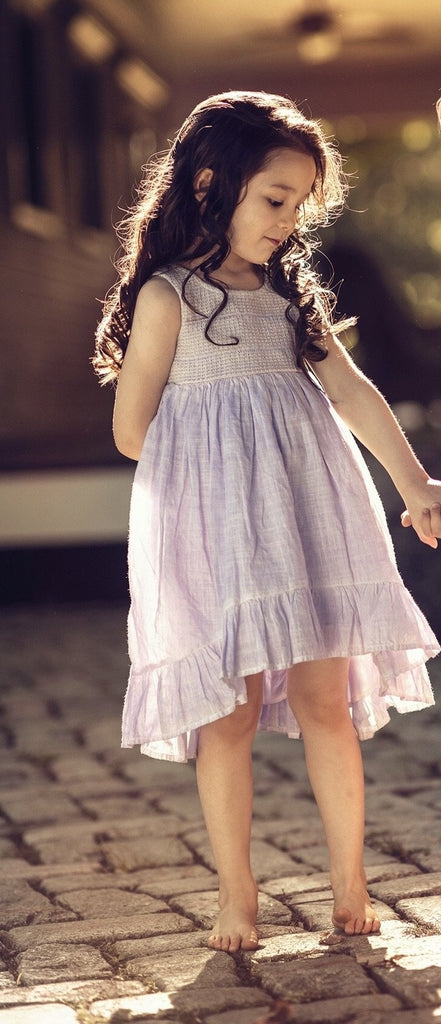 Edyn Dress in Antique Lilac  - Doodlebug's Children's Boutique