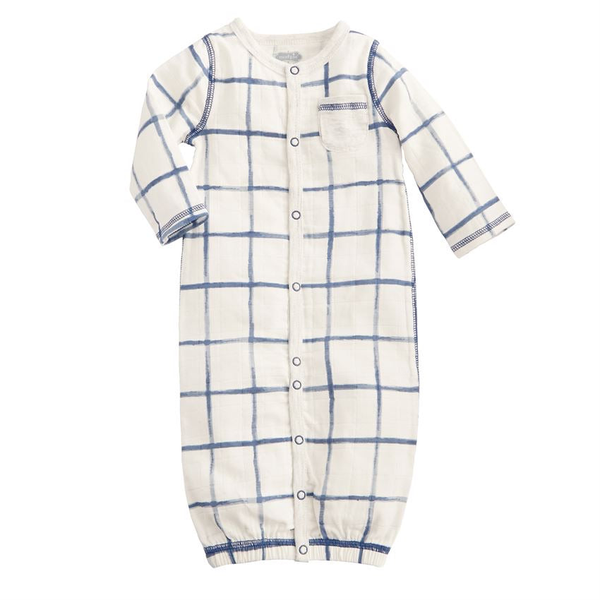 Plaid Muslin Convertible Gown  - Doodlebug's Children's Boutique