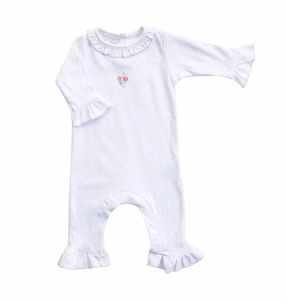 Piper's Garden Embroidered Ruffle Playsuit  - Doodlebug's Children's Boutique