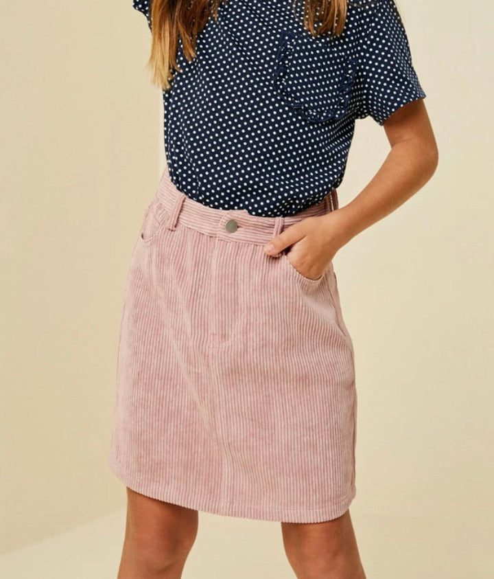 Corduroy Mini Skirt  - Doodlebug's Children's Boutique