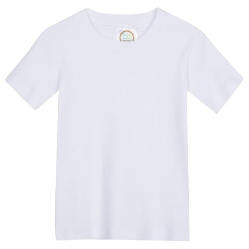 Blanks Boutique Short Sleeve Tee White / 18m - Doodlebug's Children's Boutique