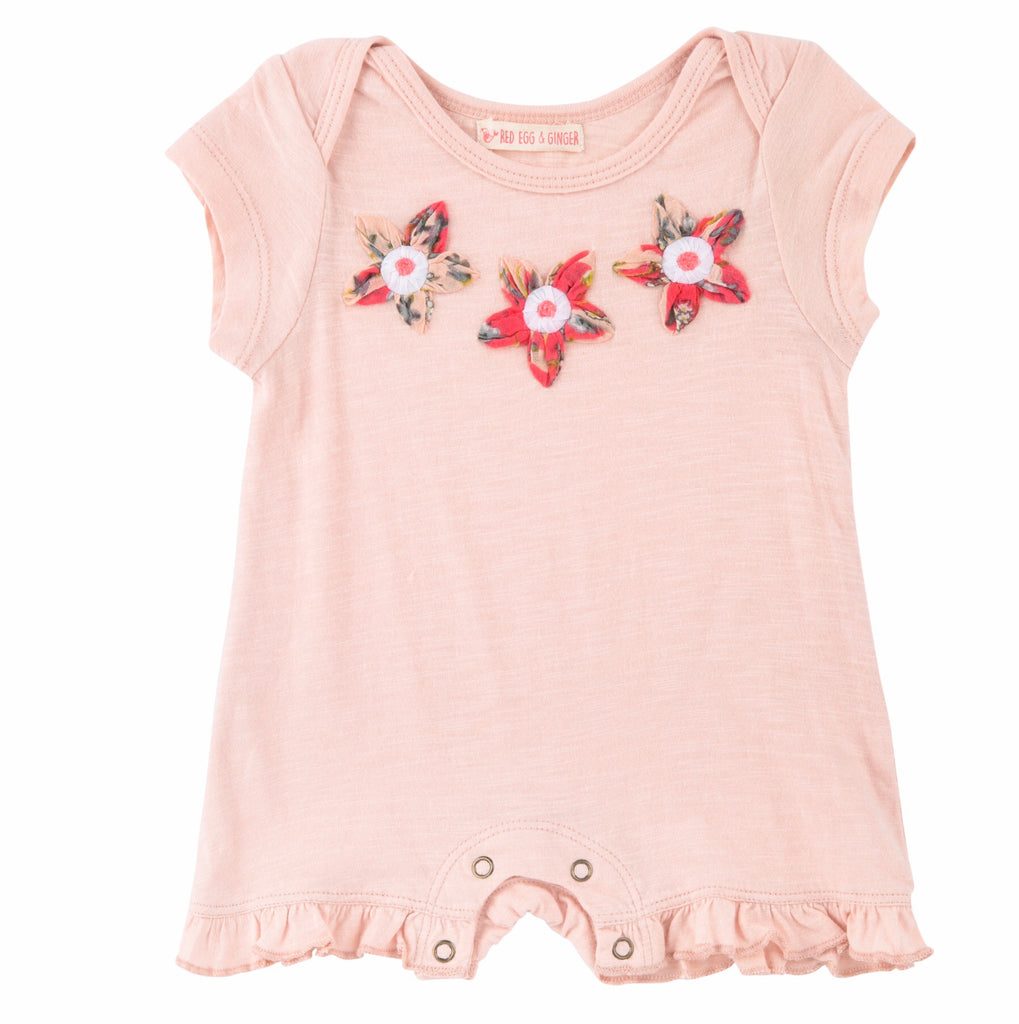 Red Egg and Ginger Pretty Blossoms Romper