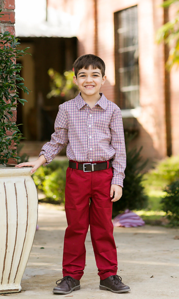Red Knit Pants  - Doodlebug's Children's Boutique