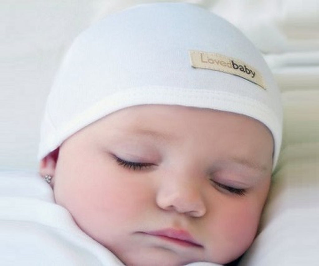 Organic Cute Cap in White  - Doodlebug's Children's Boutique