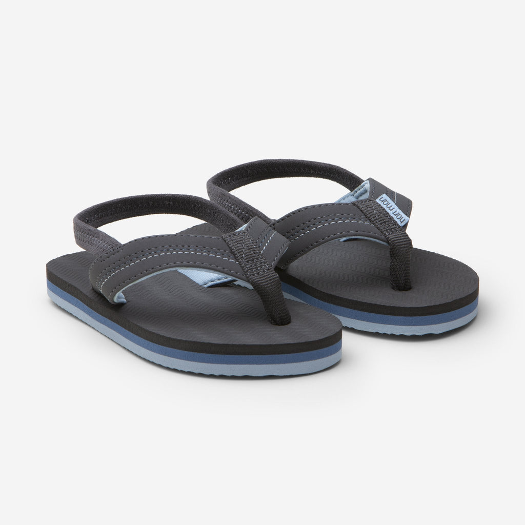 Brazos Dark Charcoal Flip Flops  - Doodlebug's Children's Boutique