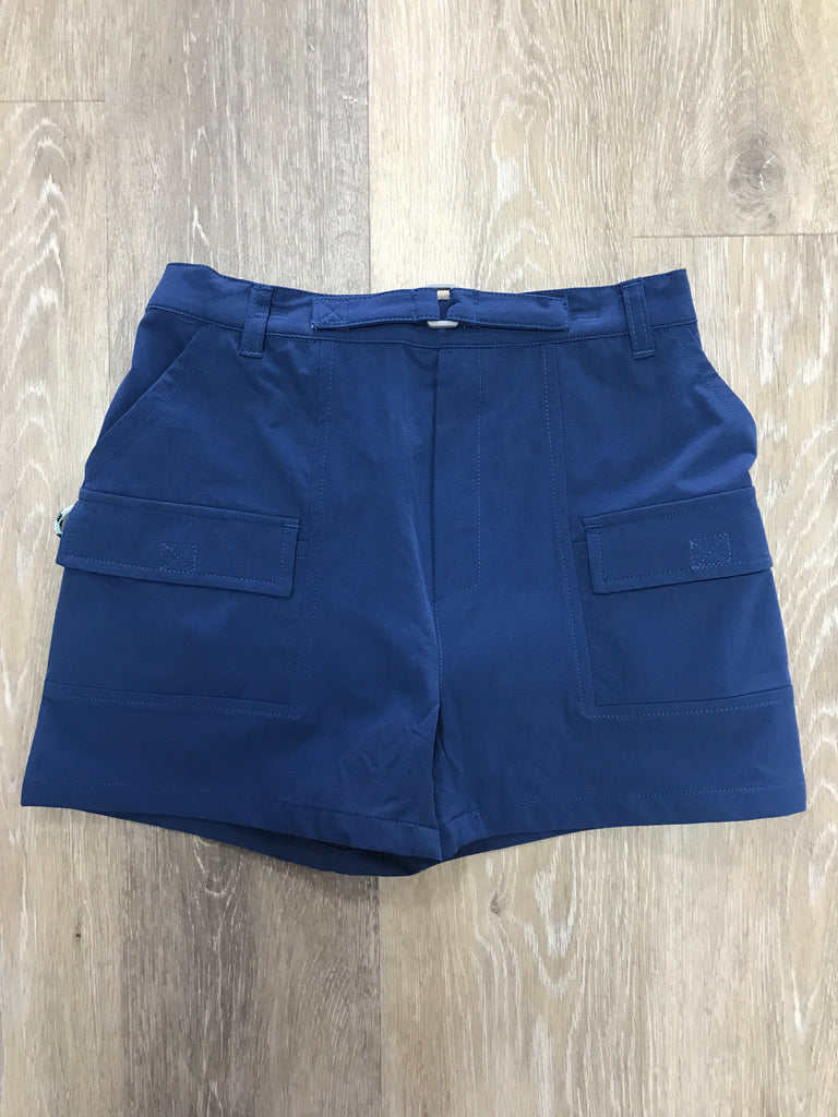 Performance Shore Short in Blueberry  - Doodlebug's Children's Boutique