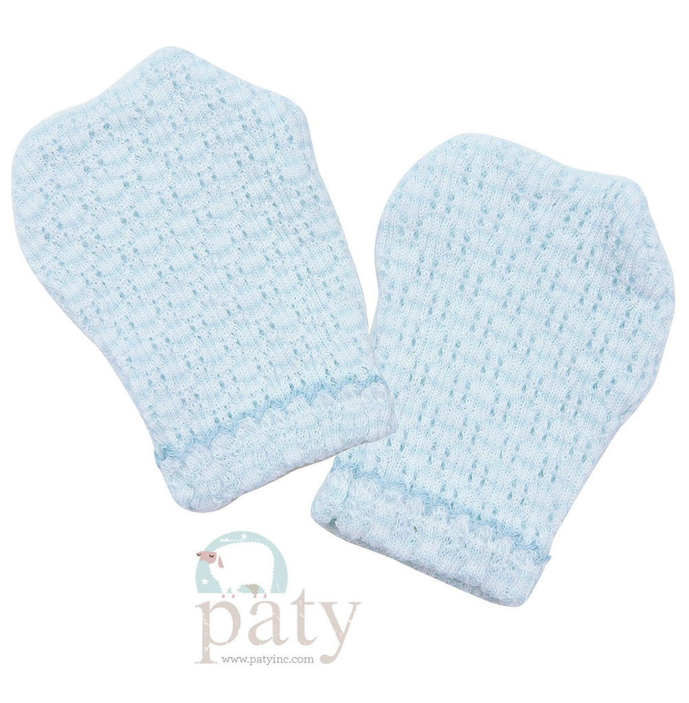 Blue Stripe Mittens  - Doodlebug's Children's Boutique