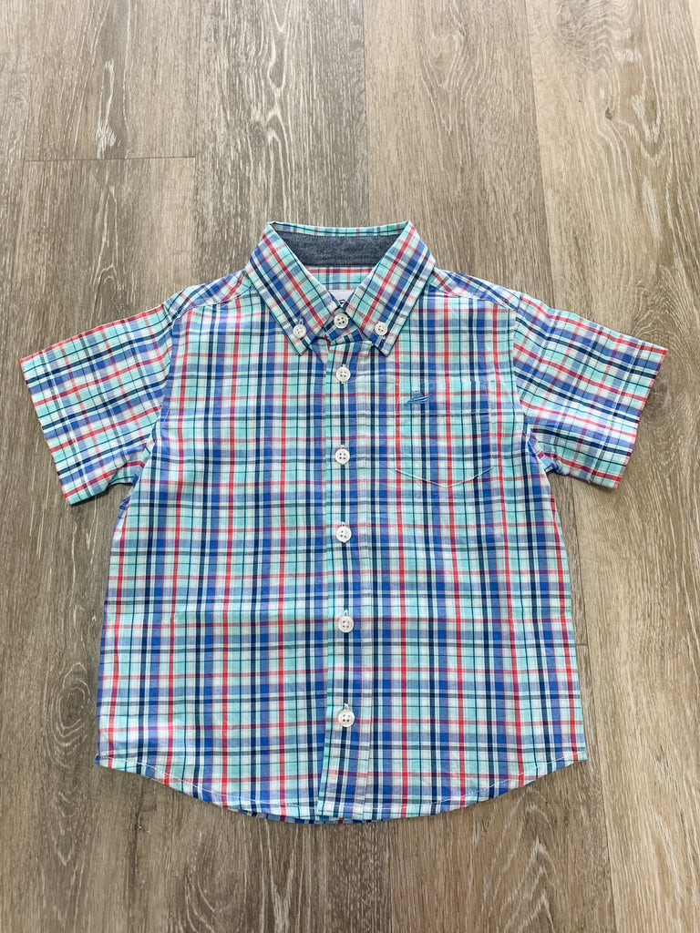 Island Regatta Check Classic Shirt Island Regatta Plaid / 2T - Doodlebug's Children's Boutique