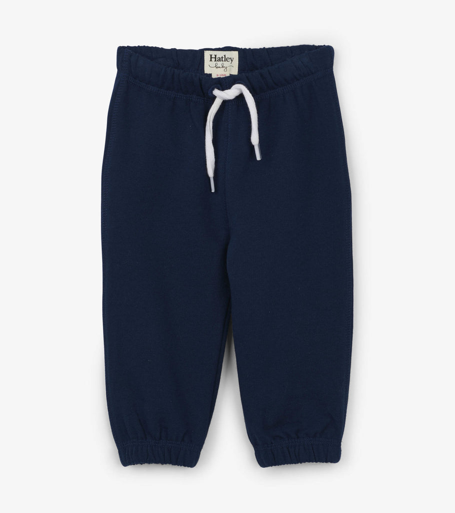 Navy French Terry Joggers  - Doodlebug's Children's Boutique