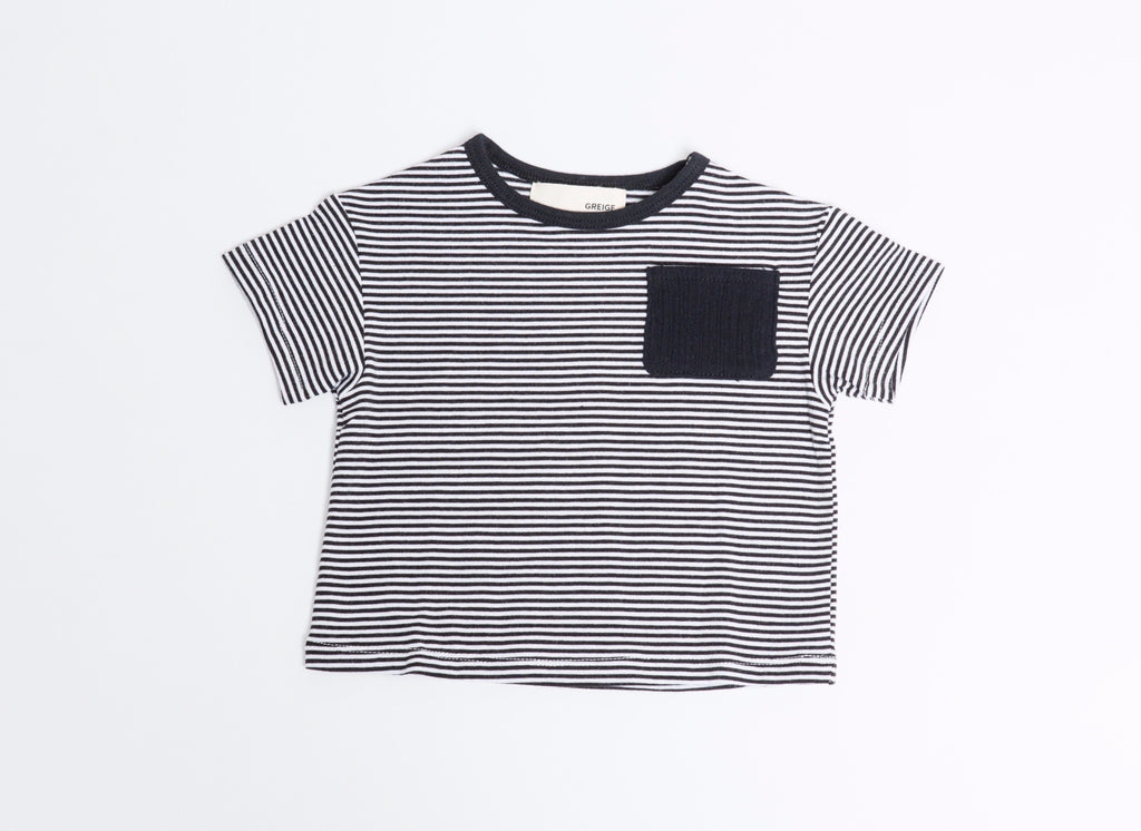 Black Stripe Bamboo Tee  - Doodlebug's Children's Boutique