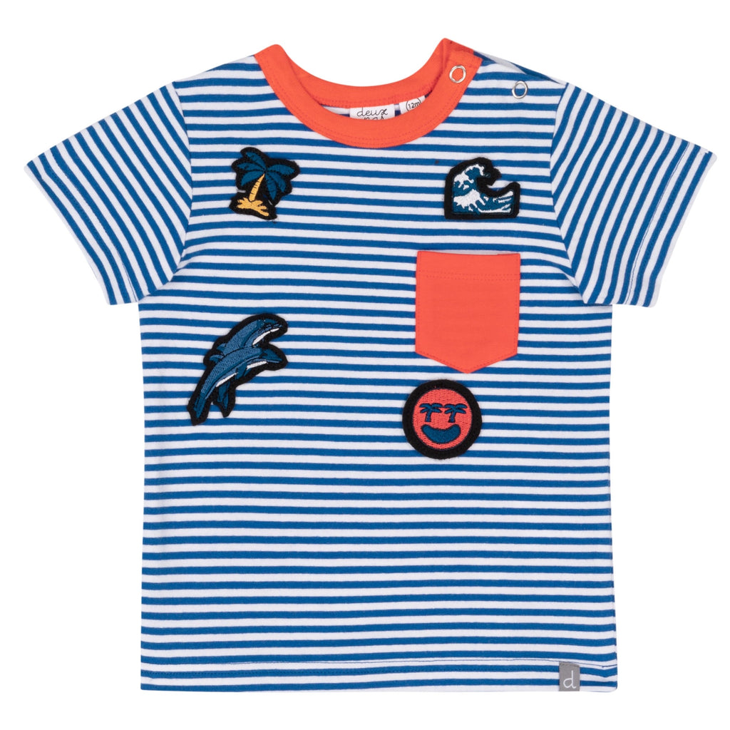 Striped Tee  - Doodlebug's Children's Boutique