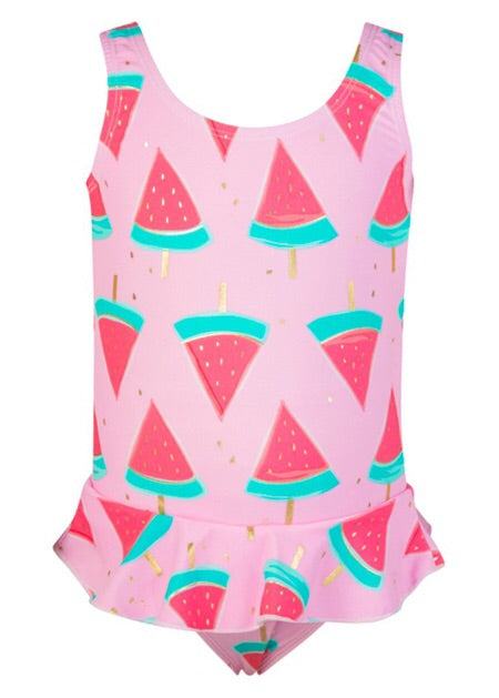 Snapperrock Watermelon Skirt Swimsuit