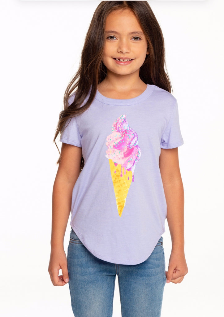 Sprinkle Cone Vintage Jersey Scoop Back Shirt  - Doodlebug's Children's Boutique