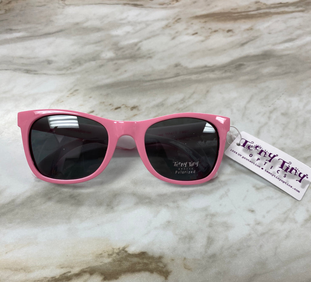 Pink with White Jackie Polarized Sunglasses Pink with White Inside - Doodlebug's Children's Boutique