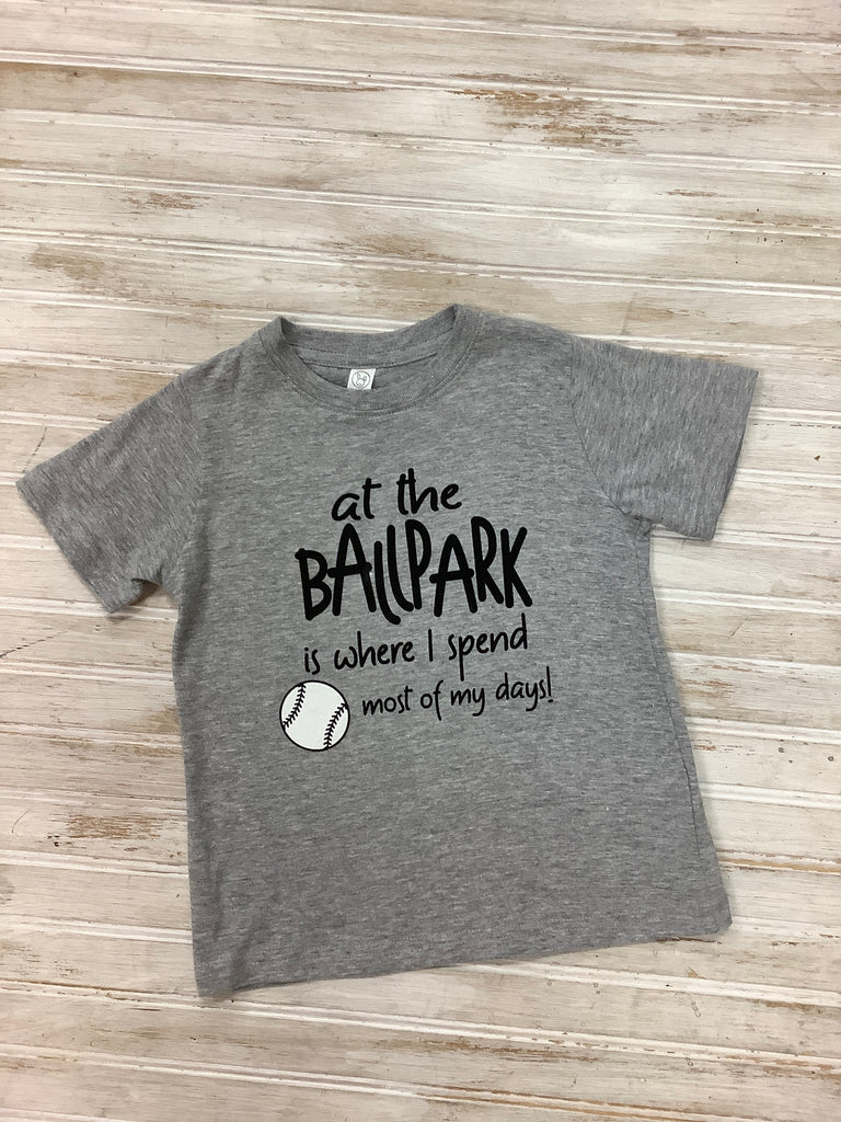 Ballpark Tee  - Doodlebug's Children's Boutique