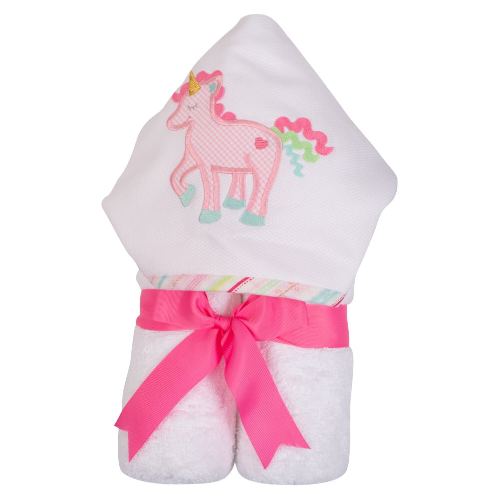 Unicorn Everykid Hooded Towel with Appliqué Unicorn - Doodlebug's Children's Boutique