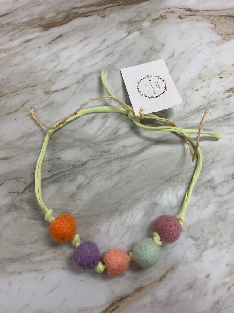 Molly Hayes & Co. Necklace Lime Green - Doodlebug's Children's Boutique