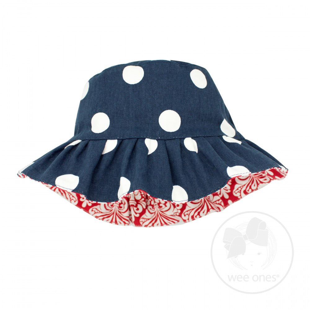 Wee Ones Polka Dot Reversible Hat