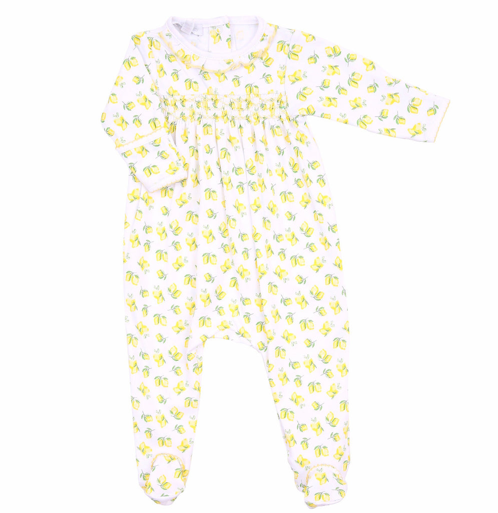 Magnolia Baby Make Lemonade Smocked Footie