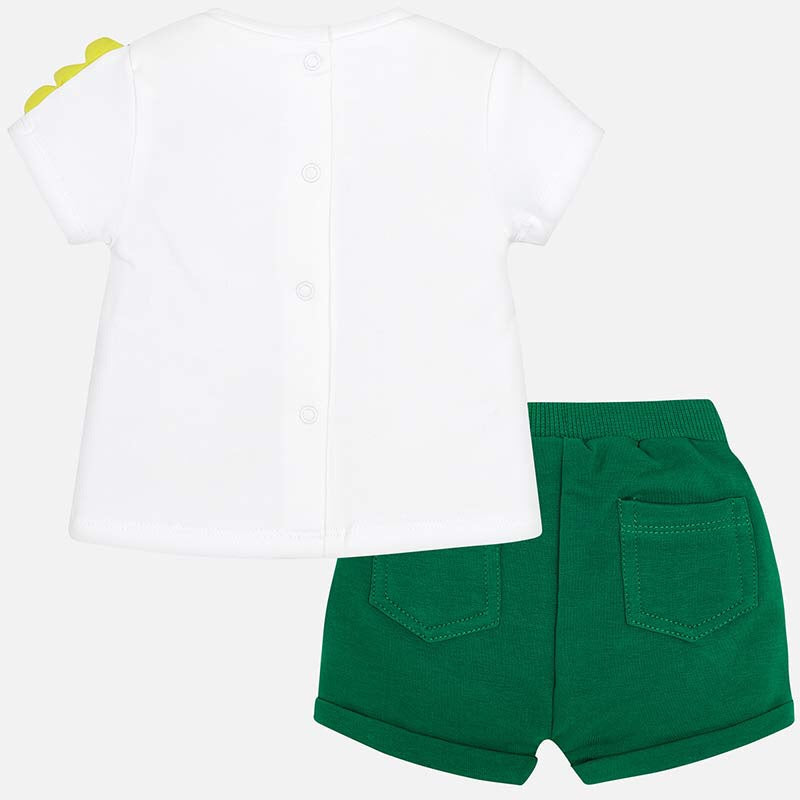 Forest Green T-Shirt and Shorts Set  - Doodlebug's Children's Boutique