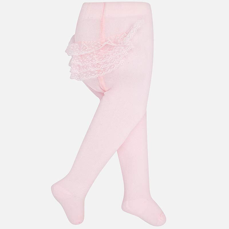 Pink Tights with Ruffles Pink / 6m - Doodlebug's Children's Boutique