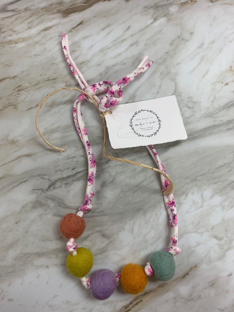Molly Hayes & Co. Necklace Floral - Doodlebug's Children's Boutique