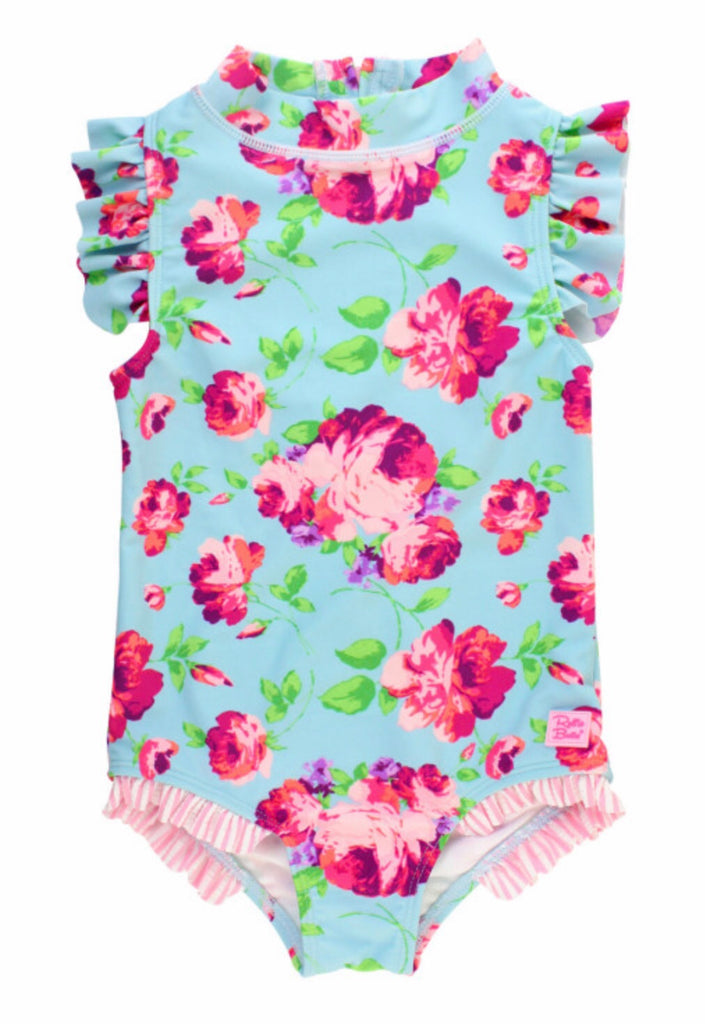 Ruffle Butts Life is Rosy Flutter One-Piece Swimsuit