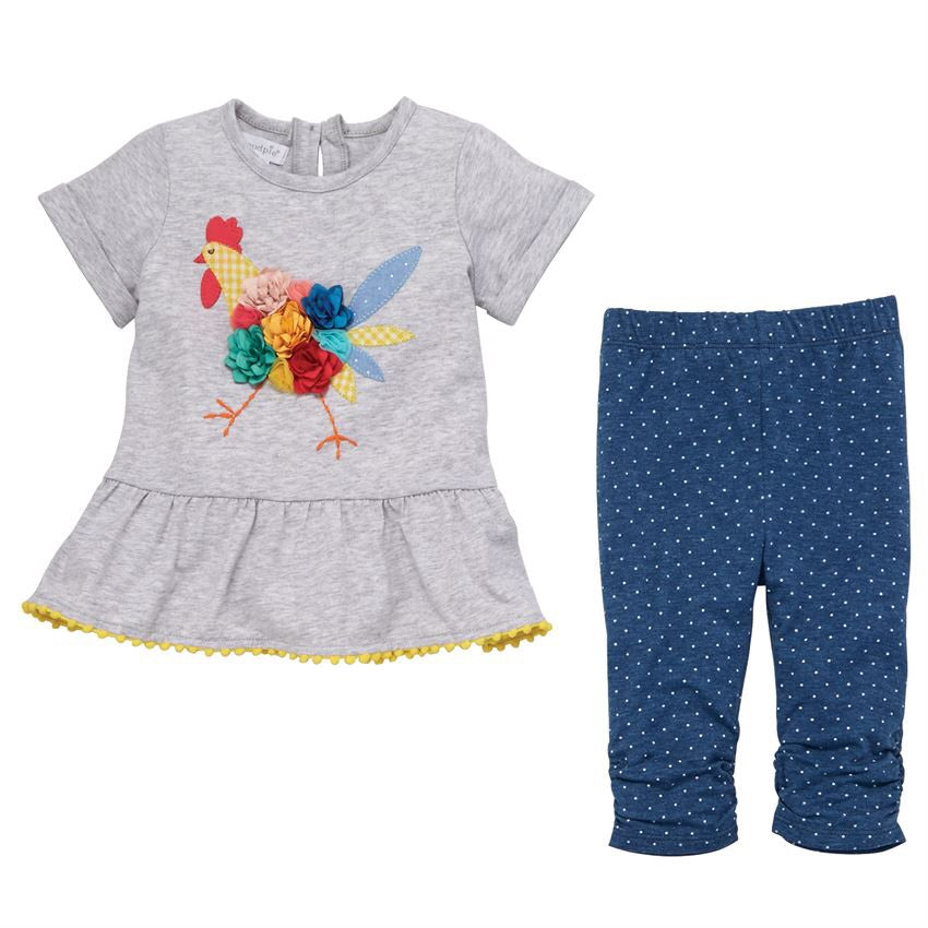 Mud Pie Chicken Tunic and Capri