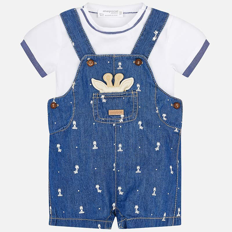 Mayoral Short Dungaree Set