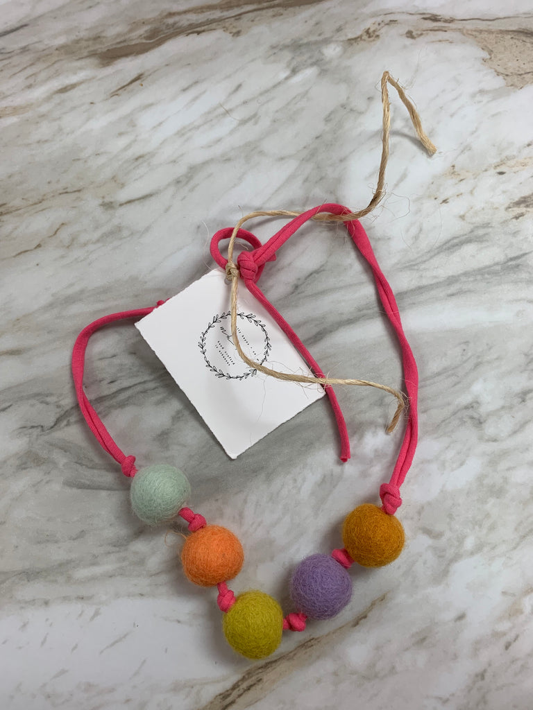 Molly Hayes & Co. Necklace Hot Pink - Doodlebug's Children's Boutique