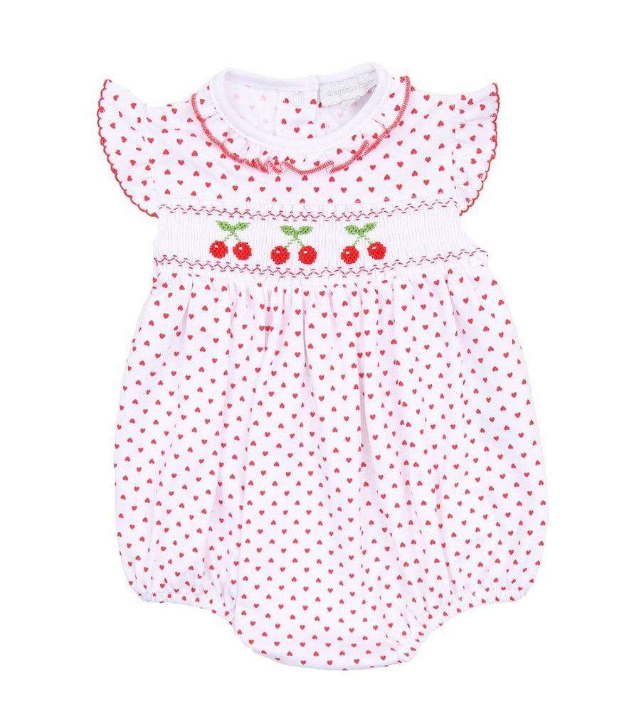 Magnolia Baby Cherry on Top Smocked Bubble