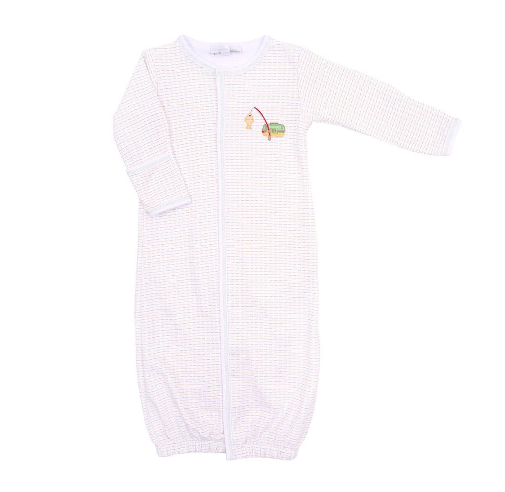 Magnolia Baby Gone Fishing Embroidered Converter Gown
