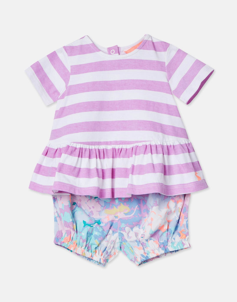 Joules Jersey Top and Woven Bloomers Set