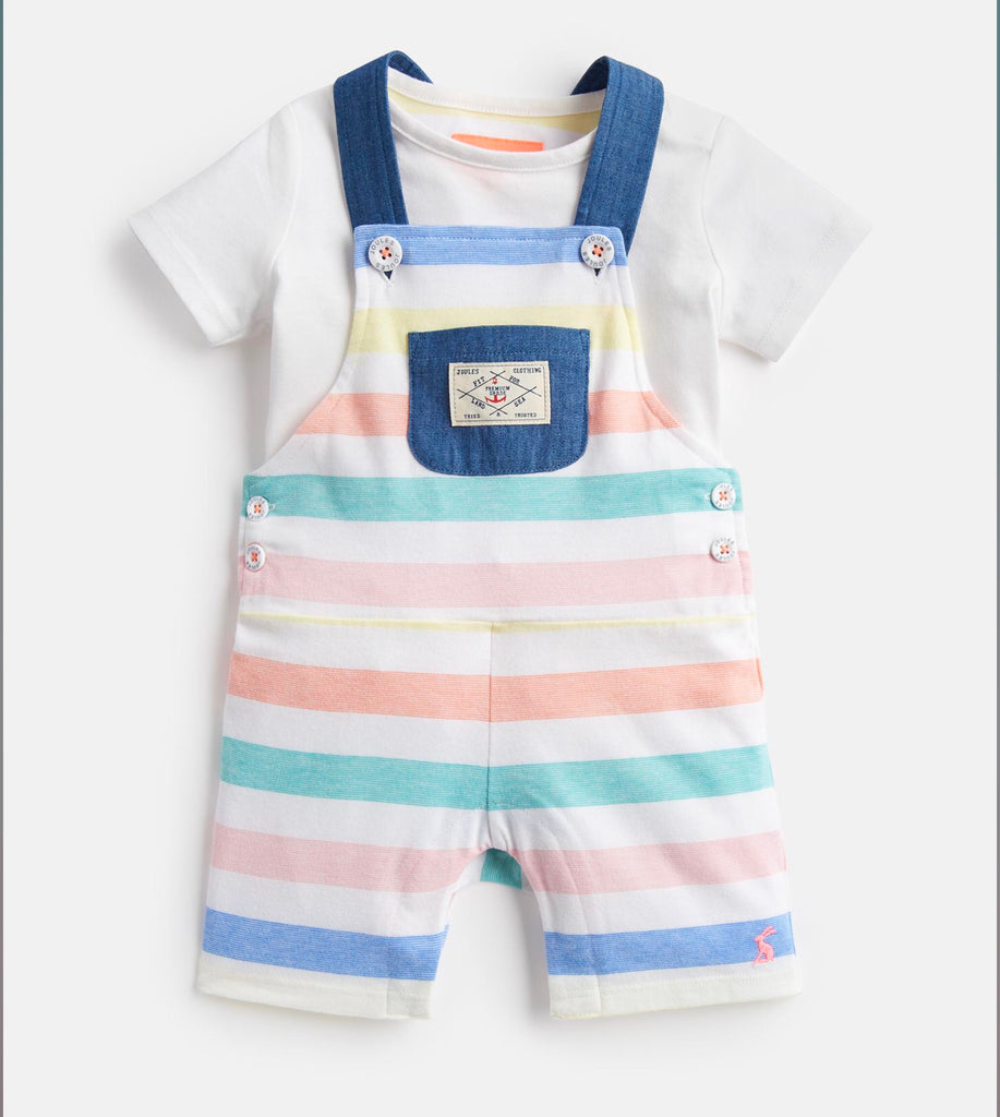 Joules Duncan Jersey Dungaree and Top Set