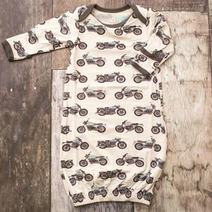 Motorcycle Overlap Gown  - Doodlebug's Children's Boutique