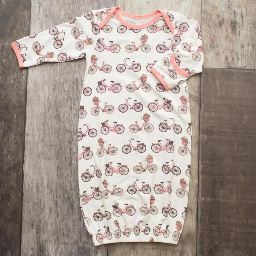 Pink Bicycle Overlap Gown  - Doodlebug's Children's Boutique