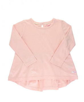 Long Sleeve Bow Back Top in Ballet Pink
