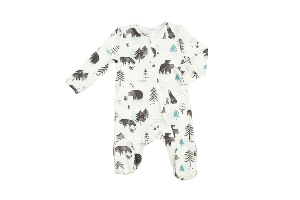 Zipper Footie in Mama and Cubs  - Doodlebug's Children's Boutique