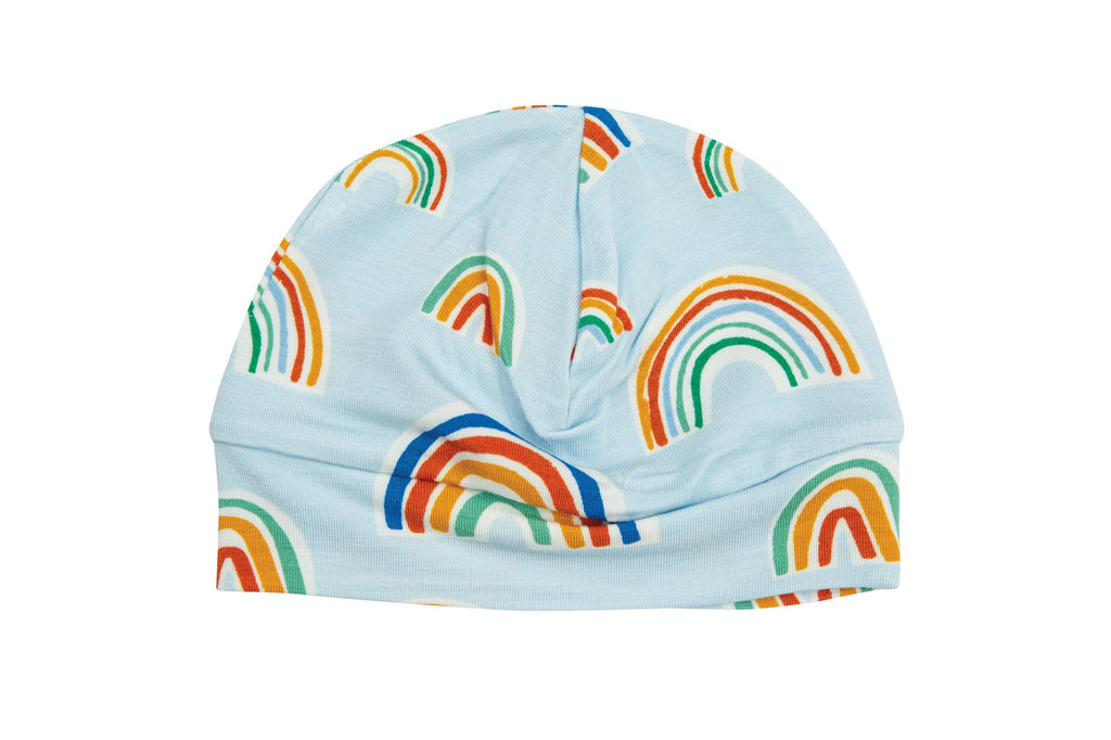 Beanie in Blue Rainbows  - Doodlebug's Children's Boutique