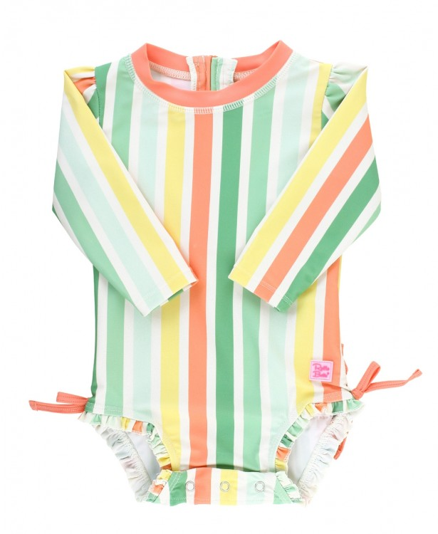 Saltwater Stripe One Piece Rash Guard  - Doodlebug's Children's Boutique
