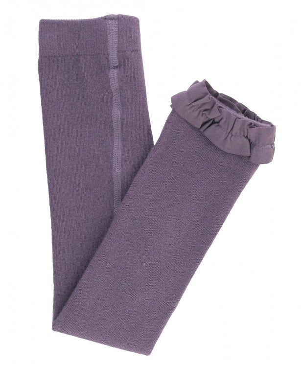 Footless Ruffle Tights in Shadow Purple  - Doodlebug's Children's Boutique