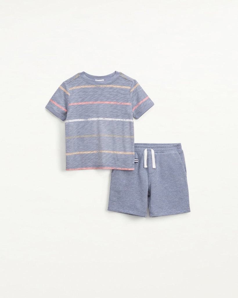Painted Stripe Tee Set  - Doodlebug's Children's Boutique