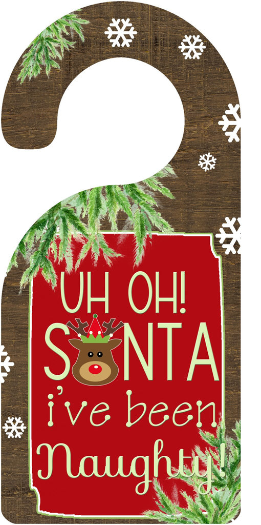 Santa Door Hanger  - Doodlebug's Children's Boutique