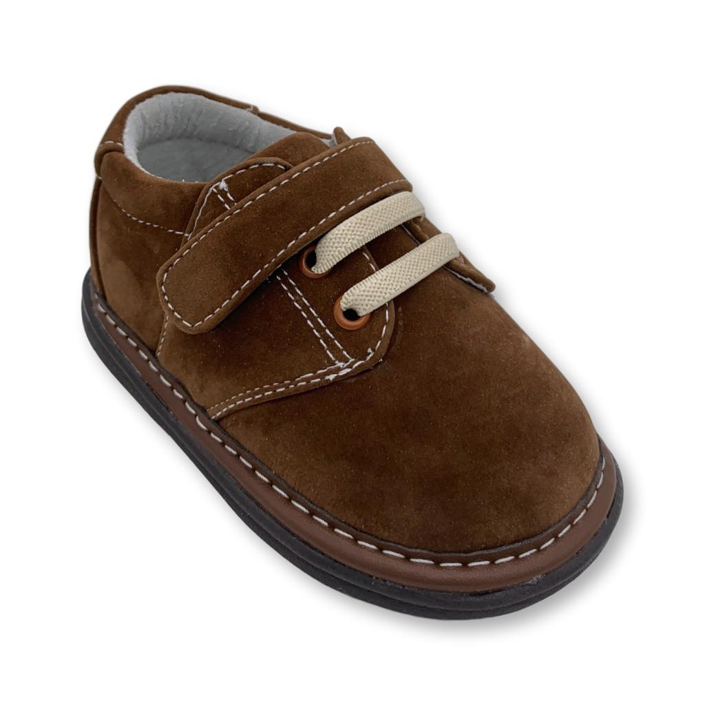 Jacob Brown Squeaker Shoe  - Doodlebug's Children's Boutique