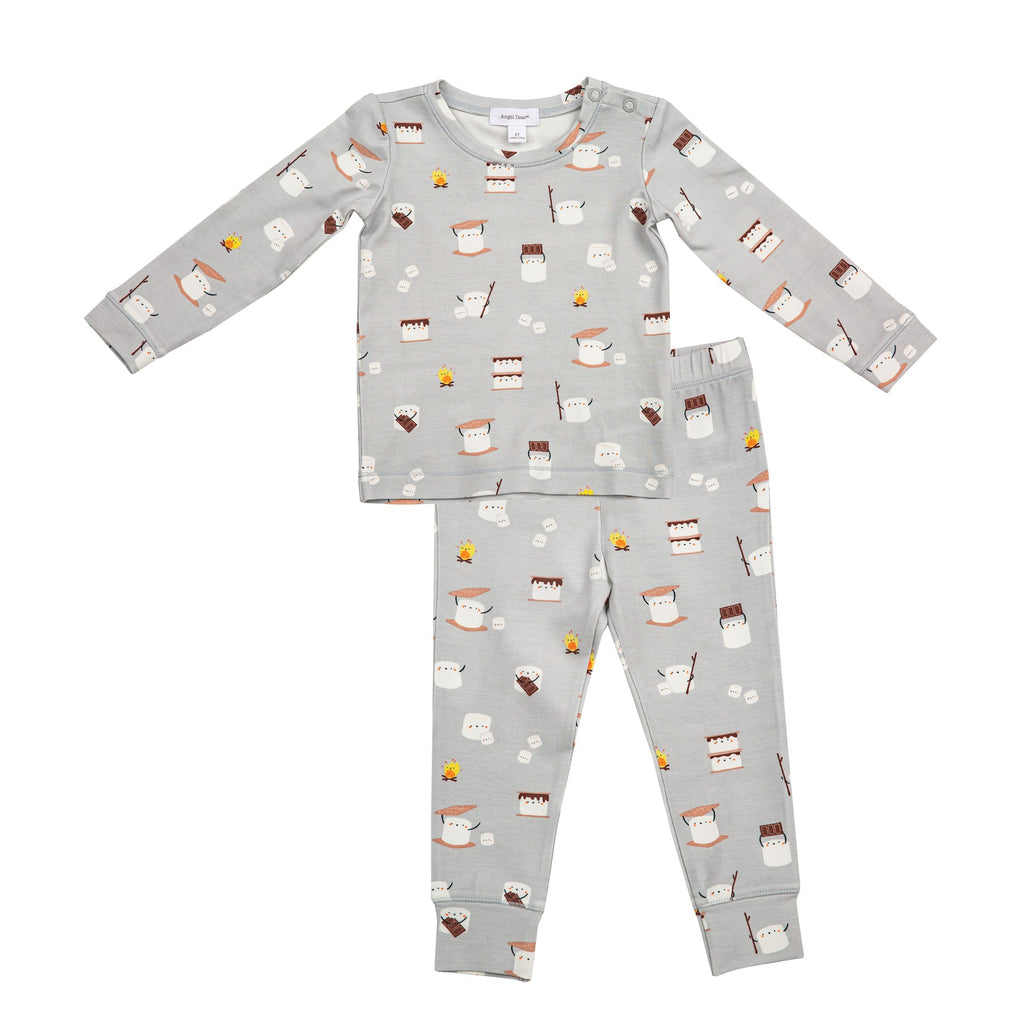 Lounge Wear Set in Smores  - Doodlebug's Children's Boutique