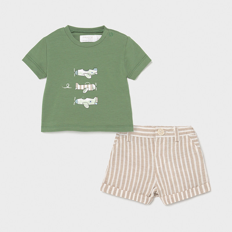 Airplane Shorts Set  - Doodlebug's Children's Boutique