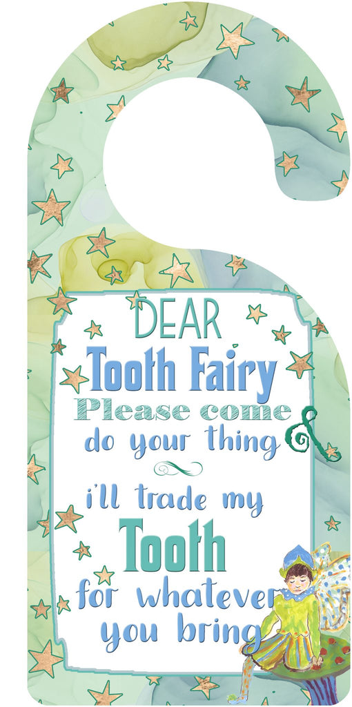 Blue Tooth Fairy Door Hanger