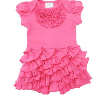 Angel Romper in Pink Lemonade  - Doodlebug's Children's Boutique