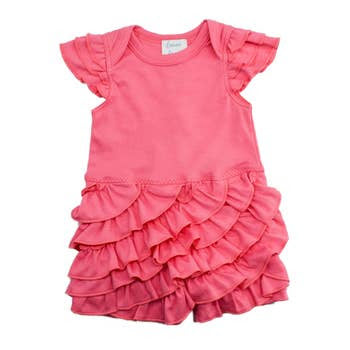 Rosy Romper in Pink Lemonade  - Doodlebug's Children's Boutique