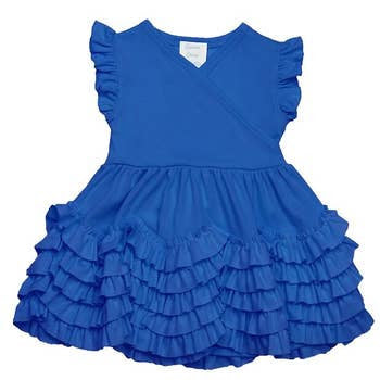 Mia Dress in Seaport  - Doodlebug's Children's Boutique